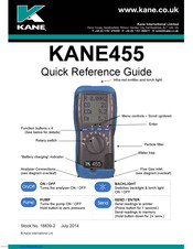 Kane 455 manual | battery charger | carbon dioxide.
