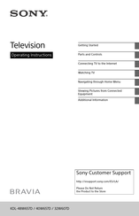 Sony BRAVIA KDL-32W607D Operating Instructions Manual