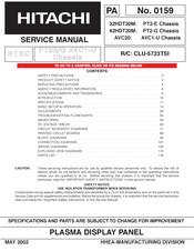 Hitachi 42hdt20m Manuals Manualslib