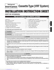 Fujitsu 9370083002 Installation Instruction Sheet