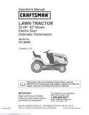 Craftsman 917.289344 Owner's Manual
