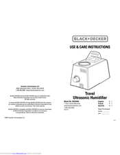 Black & Decker BXHU050 Use & Care Instructions Manual