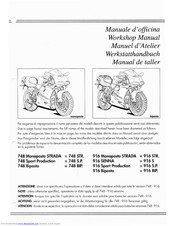 Ducati 748 monoposto strada Workshop Manual