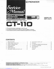 Pioneer CT-110 Service Manual