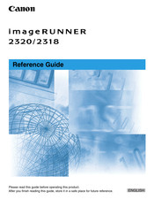 Canon imageRUNNER 2318 Reference Manual
