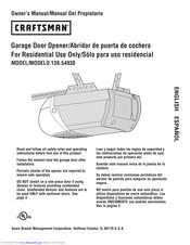 Craftsman 139 54930 Manuals