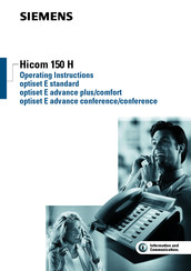 Siemens hicom 150 H optiset E advance plus Operating Instructions Manual