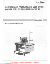 Brother BAS-320 Instruction Manual