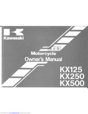 Kawasaki kx125 1997 Owner's Manual