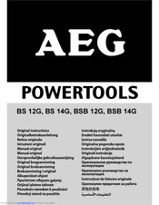 AEG BS 14G Original Instructions Manual
