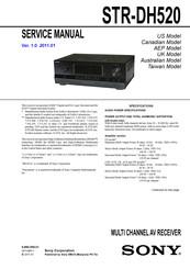 SONY STR-DH520 SERVICE MANUAL Pdf Download | ManualsLibManualsLib