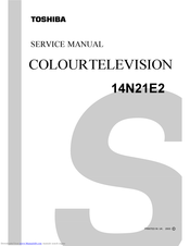 Toshiba 14N21E2 Service Manual