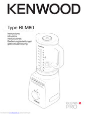 Kenwood blm80 Instructions Manual