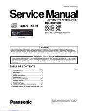 PANASONIC CQ-RX100U SERVICE MANUAL Pdf Download | ManualsLibManualsLib