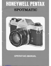 Honeywell Pentax Spotmatic Operating Manual