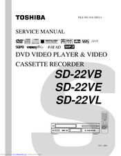 Toshiba SD-22VE Service Manual