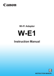 Canon w-e1 Instruction Manual