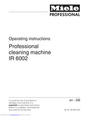 Miele IR 6002 Operating Instructions Manual