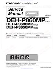 PIONEER DEH-P8600MP SERVICE MANUAL Pdf Download | ManualsLibManualsLib