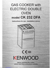 Kenwood CK 232 DFA Instructions For Use - Installation Advice
