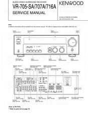 Kenwood VR-707A Service Manual