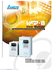 Delta Vfd B User Manual Pdf Download Manualslib