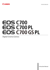 Canon EOS C700 Instruction Manual