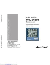 Umg 96rm-e umg 96 rm-e – power analyser with ethernet and.