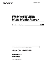 Sony WX-VX55S Operating Instructions Manual