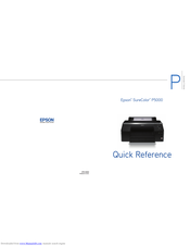 Epson surecolor p5000 Quick Reference Manual