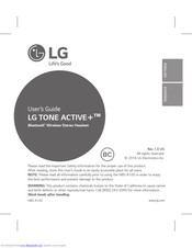 LG Tone Active+ HBS-A100 User Manual