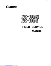 Canon AS-100M Field Service Manual