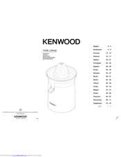 Kenwood CPP40 Instructions Manual