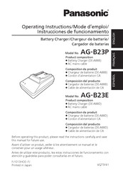 Panasonic AG-B23P Operating Instructions Manual