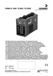 Sussidio prudente sempre dritto  Cemont PUMA S 1700G Manuals | ManualsLib