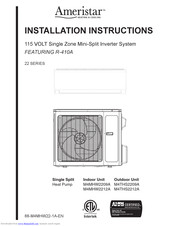 AMERISTAR M4MHW2209A INSTALLATION INSTRUCTIONS MANUAL Pdf Download |  ManualsLibManualsLib