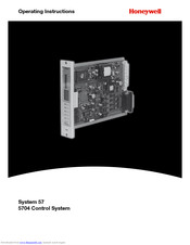 Honeywell 5704 Operating Instructions Manual