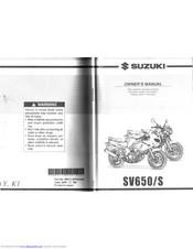 Suzuki Sv650 Manuals Manualslib