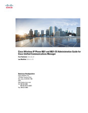 Cisco 8821-EX Administration Manual