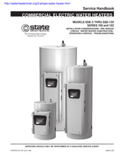 state electric water heater wiring diagram state water heaters sse 120 manuals  state water heaters sse 120 manuals