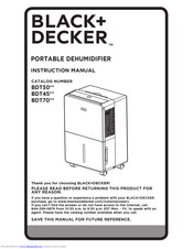 Black & Decker BDT30 Series Instruction Manual