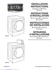 Maytag MDE25PN Installation Instructions Manual