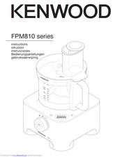 Kenwood FPM810 series Instructions Manual