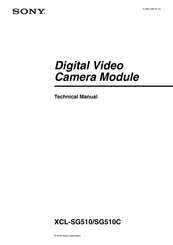 Sony XCL-SG510C Technical Manual