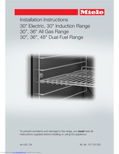 Miele HR 193 SERIES Installation Instructions Manual