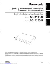 Panasonic AG-BS300E Operating Instructions Manual