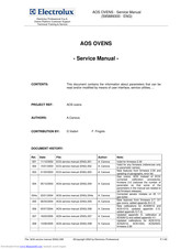 Electrolux AOS061E Series Service Manual