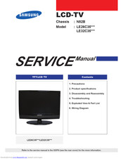 Samsung LE26C35 SERIES Service Manual