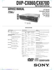 Sony Dvp Cx860 Service Manual Pdf Download Manualslib