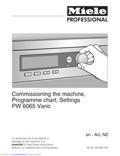 Miele PW 6065 Vario Instructions Manual